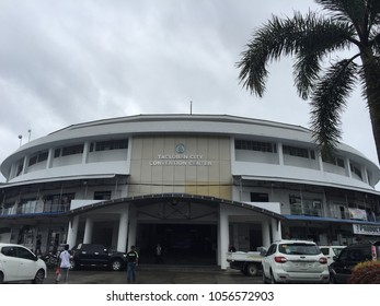 Leyte, Philippines; March 12, 2018: The Tacloban City Convention Center, also known as the Tacloban Astrodome, is an indoor sports arena where many residents took refuge during typhoon Yolanda/Haiyan.