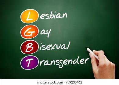 LGBT - lesbian, gay, bisexual, transgender, acronym concept on blackboard