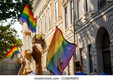 LGBT march in the city of Odessa, Ukraine August 18, 2018.