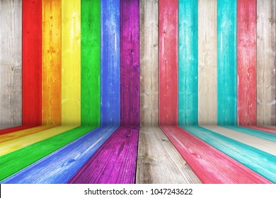 LGBT natural pattern or white wood texture table perspective view. Wood texture background surface with Grunge surface with wood texture background. Vintage timber texture background. Rustic table