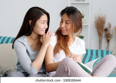 Asian lesbian examination