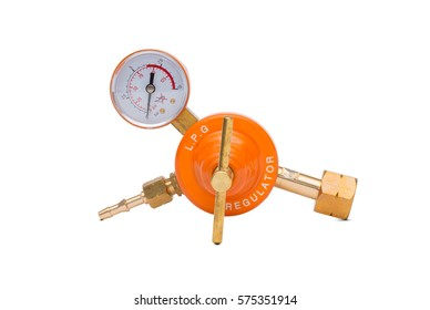 LGP Gas regulator isolated on a white background