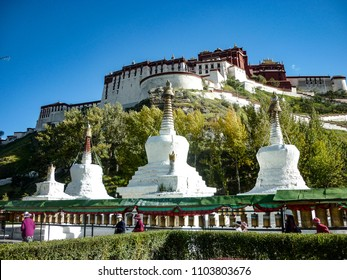 Lhasa, Tibet, China - Oct 2010: Views of the Potala Palace, former residence of the Dalai Lama