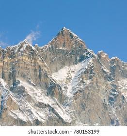 Lhotse peak (8516 m). View from Chhukhung Ri - Everest region, Nepal, Himalayas.