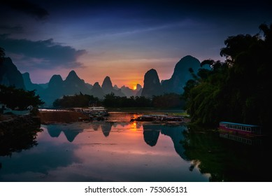 Li River, Xing Ping near Jangshuo and Guilin, China