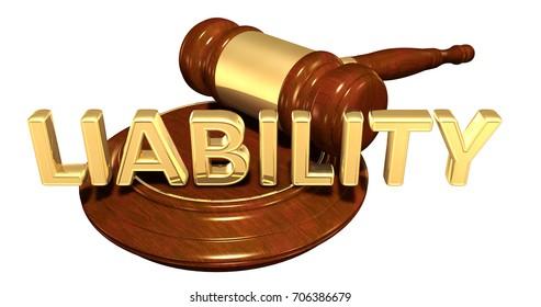 Liability Law Concept 3D Illustration