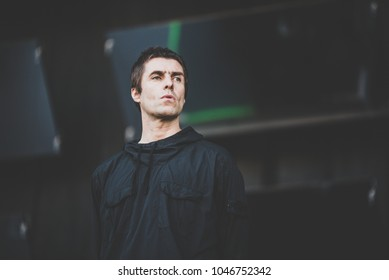 Liam Gallagher performs in concert at Rock im Park festival on June 4, 2017 in Nuremberg, Germany