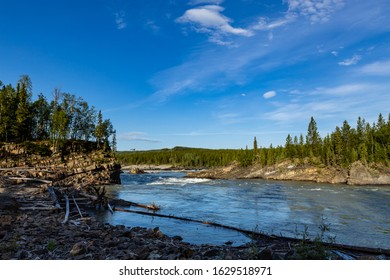 The Liard River along the Alaska Highway in Canada