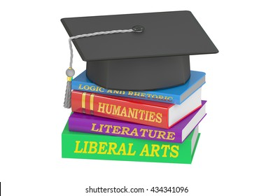 Liberal Arts Education, 3D rendering isolated on white background