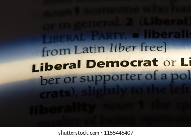 liberal democrat word in a dictionary. liberal democrat concept.