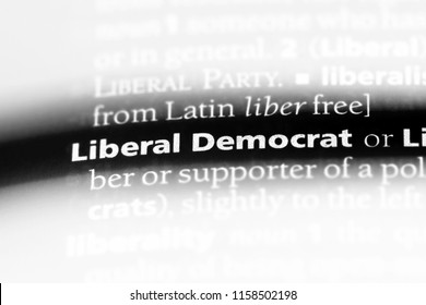 liberal democrat word in a dictionary. liberal democrat concept.