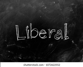 Liberal handwritten on Blackboard