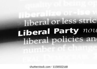 liberal party word in a dictionary. liberal party concept.