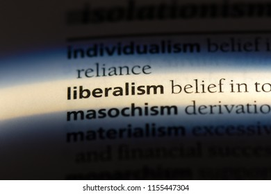 liberalism word in a dictionary. liberalism concept.