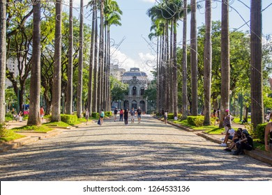Liberdade Square Belo Horizonte, minas gerais, Brazil - December 08, 2018: Freedom Square, the main meeting point for young people in the capital of Minas Gerais.