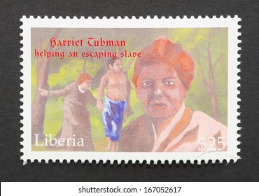 LIBERIA - CIRCA 2001: postage stamp printed in Liberia showing an image of Harriet Tubman, circa 2001.