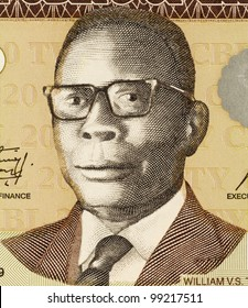 LIBERIA - CIRCA 2009: William Tubman (1895-1971) on 20 Dollars 2009 Banknote from Liberia. 19th President of Liberia during 1944-1971.