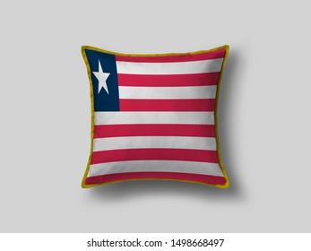 Liberia Flag Pillow & Cusion Cover. Liberia cushion cover. Flag Pillow Cover with Liberia Flag