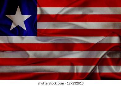 Liberia grunge waving flag