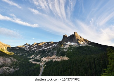 Liberty Bell and Kangaroo Ridge at sunset, Washington State