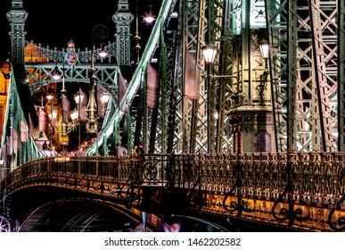 Szabadság híd (Liberty Bridge or Freedom Bridge) in Budapest