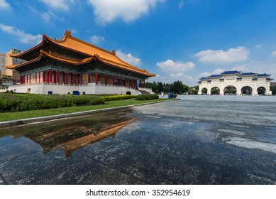 Liberty Square and chiang kai-shek memorial hall on a sunny day, Taipei, Taiwan