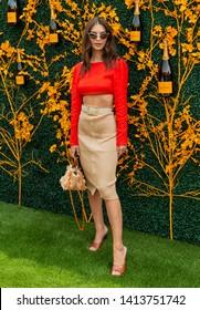 Liberty State Park, NJ - June 1, 2019: Emily Ratajkowski attends 12th Annual Veuve Clicquot Polo Classic at Liberty State Park