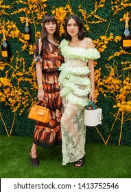 Liberty State Park, NJ - June 1, 2019: Natalie Lim Suarez and Dylana Lim Suarez attends 12th Annual Veuve Clicquot Polo Classic at Liberty State Park