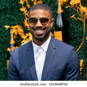 Liberty State Park, NJ - June 1, 2019: Michael B. Jordan attends 12th Annual Veuve Clicquot Polo Classic at Liberty State Park