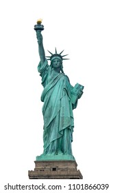 Liberty statue with isolated background