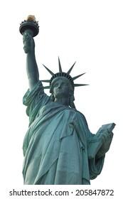 Liberty statue isolation