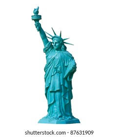 liberty statute on white background