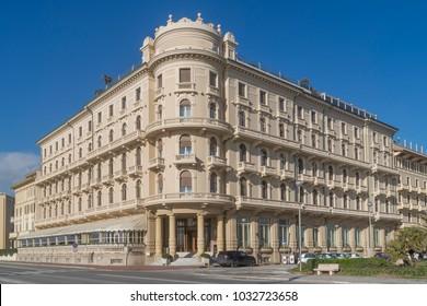 Liberty style building in Viareggio, Lucca, Tuscany, Italy