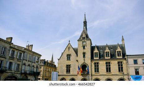 LIBOURNE, FRANCE - JUNE 03: The old town on June 03, 2016 in Libourne, France.