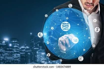 Libra cryptocurrency coin newly introduced to world digital money economy. Libra was reported to be used for electronic payment on many partner internet website.