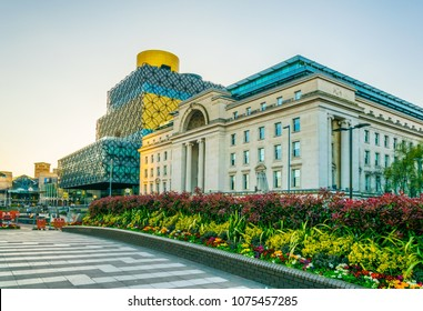 Library of Birmingham and Baskerville house, England