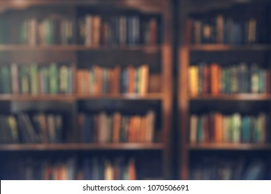 Library - blurred background