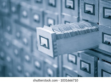 library card archive or index toned image