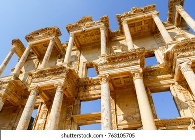 Library of Celsus in the ancient city of Ephesus, Turkey. Ephesus is a UNESCO World Heritage site.
