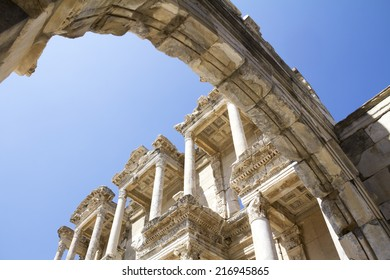 Library Of Celsus at Ephesus Library of Celsus, ruins of ancient city Ephesus, Turkey.