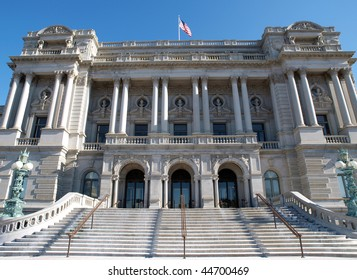 Library of Congress on a bright sunny morning in Washington DC