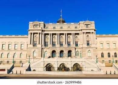 Library of Congress Thomas Jefferson building in Washington DC USA