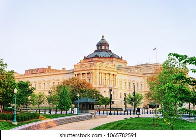 Library of Congress in Washington D.C., US. It is the oldest federal cultural institution in the United States. Serves for the US Congress.