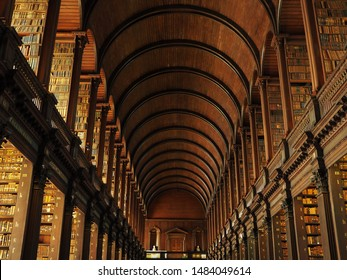 Library in Dublin Trinity college