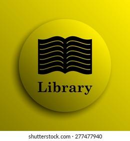 Library icon. Yellow internet button.