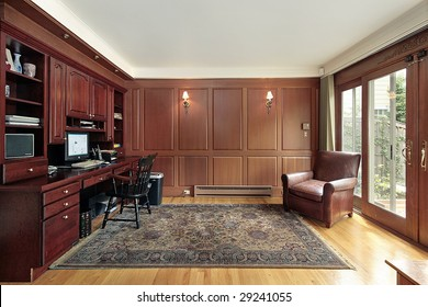 Library and office in luxury home