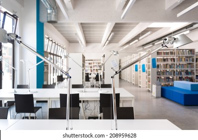Library, study area