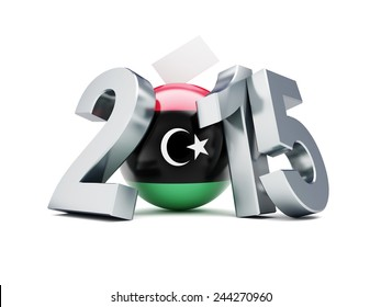 libyan constitutional referendum 2015 on a white background