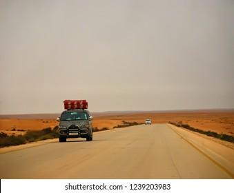 Libyans flee from the advancing army of Muammar Gaddafi. The Arab Spring begins. Benghazi, Libya, April 6, 2011.