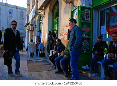 Libyans are waiting for news about their relatives. The Arab Spring has begun. Internet club in Benghazi, Libya. April 6, 2011, Benghazi, Libya.